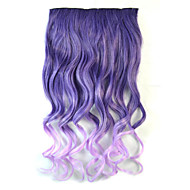 Mix Color Body Wave Synthetic Thick Hair Extensions Clip-on Hair