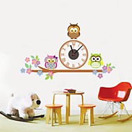 DIY 3D Lovely Owl Wall Clock