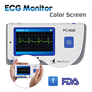 HEAL FORCE PC-80B Portable Heart Ecg Monitor Probe Electrocardiogram Electro Color Screen CE Approve