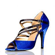 Non Přizpůsobitelné - Dámské - Taneční boty - Salsa - Semišování - Jehlový podpatek - Modrá