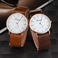 男性用の腕時計ドレスウォッチカレンダークォーツPUバンド