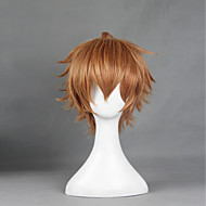 Cosplay Wigs Shokugeki no Soma Cosplay Brown Short Anime Cosplay Wigs 30 CM Heat Resistant Fiber Male / Female
