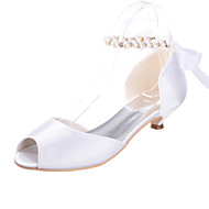 Women's Shoes Silk Low Heel Peep Toe Sandals Wedding/Party & Evening More Colors available