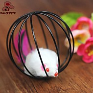 Kattenspeeltje Huisdierspeeltjes Interactief Speelhengels Muis Bal in kooi Kunststof