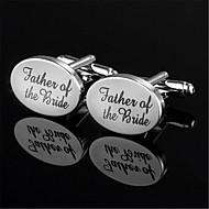 Men's Father Of The Bride Groom Oval Blk Wedding Men Cufflinks