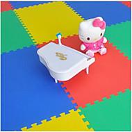děti plazí mat puzzle mat 50 * 50 pěnová mat podlahová rohož Baby Bag šití náhodný barva 4 tablety.