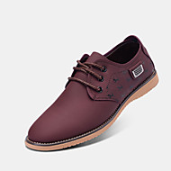 Men's Shoes Outdoor Leatherette Oxfords Blue/Brown/Yellow/Burgundy