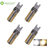 4pcs G9 6W 64x3020SMD 550LM 3500K 6000K Warm White/Cool White Waterproof LED Corn Bulbs  AC110-240V