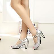 Zapatos de baile (Negro/Azul/Plata/Oro) - Moderno - No Personalizable - Tacón grueso
