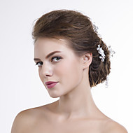 Women Organza Hair Pin With Multi-stone Wedding/Party Headpiece(6pls)