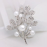 Women's Alloy Tree Casual/Party Brooches & Pins With Pearl/Rhinestone