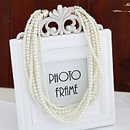 Women's Fashion Wild Multi-layer Necklace Bracelet Imitation Pearl Wedding Set