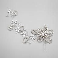 Mulheres Menina das Flores Strass Liga Imitação de Pérola Capacete-Casamento Ocasião Especial Alfinete de Cabelo 1 Peça