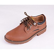 Men's Shoes Casual Leather Oxfords Brown/Red