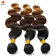 "3Pcs Lot 12""-24"" Eurasian Hair  Ombre Three Tone Color T1B/4/30 Body Wave Hair Weaves/Bundles"