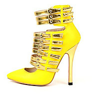 Women's Shoes Leatherette Stiletto Heel Heels/Pointed Toe Pumps/Heels Office & Career/Party & Evening/Dress Yellow