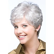 Fashionable Women's Wig Glueless Short Curly Silver grey Synthetic Hair Wigs