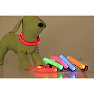 חתולים / כלבים קולרים נורות LED / חוזרמתכווננת מוצק Red / ירוק / כחול / ורוד / צהוב / כתום ניילון