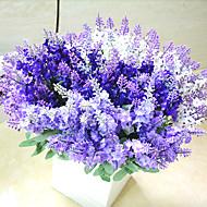 결혼식 장식을위한 높은 품질의 인공 꽃 밝은 색상 라벤더 실크 꽃
