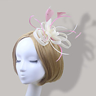 Women Satin/Feather Bride Elegant Flowers With Wedding/Party Headpiece(More Colors)