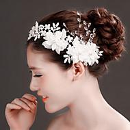 Serre-tête/Fleurs Casque Mariage/Occasion spéciale Dentelle/Cristal/Tulle/Laiton/Imitation de perle Femme Mariage/Occasion spéciale1