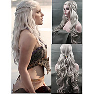 parrucca cosplay nuovo arrivo Game of Thrones Daenerys ispirato capelli cosplay parrucche d'argento