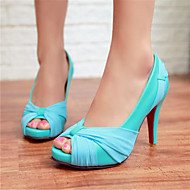 Women's Shoes Silk Stiletto Heel Heels/Peep Toe Pumps/Heels Wedding/Party & Evening multicolor
