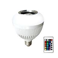 Wireless Remote Control Smart Bluetooth Ball Box LED Music Color Light Bulb Acoustic Bass Sound Box 90-240V