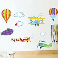 Animaux Bande dessinée Romance Mode Stickers muraux Stickers avion Stickers muraux décoratifs Matériel Lavable AmovibleDécoration