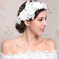 Capacete Flores Casamento/Ocasião Especial Strass/Imitação de Pérola/Flanela Mulheres/Menina das Flores Casamento/Ocasião Especial 1 Peça