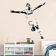 מדבקות קיר קיר PVC דמויות ספורט מדבקות כדורגל בסגנון מדבקות קיר