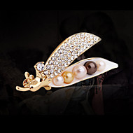 Women's Alloy Pea Casual/Party Brooches & Pins With Pearl/Rhinestone