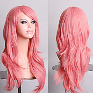 Cosplay Girl Fashion Must-Have Quality Curl Smoke Pink 70 cm Wig