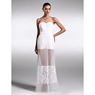 Formal Evening Dress - Ivory Plus Sizes / Petite Sheath/Column Sweetheart Floor-length Organza