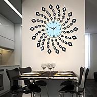 estilo moderno de metal relógio de parede mute