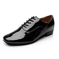 Non Přizpůsobitelné - Pánské - Taneční boty - Moderní - Koženka - Masivní podpatek - Černá / Bílá