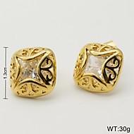 Woman's Stainless Steel Gold Earrings