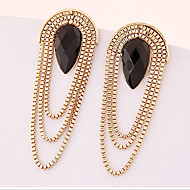 MPL Gem drop Tassel Earrings exaggerated temperament