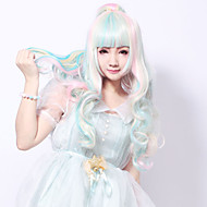 Anime Cosplay Wigs Synthetic Multicolored Wig