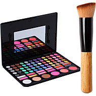 78 Colors Pro Cosmetic Makeup Pigment Kit Eye Shadow Blush Palette Lip Gloss Tools+1PCS Blush Brush