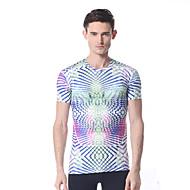 yokaland t-shirt dos homens de fitness elástico macio com impressão