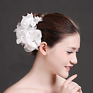 Women's Lace/Rhinestone/Imitation Pearl/Chiffon Headpiece - Wedding/Special Occasion Flowers 1 Piece