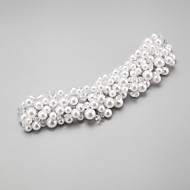 Women's / Flower Girl's Crystal / Alloy / Imitation Pearl Headpiece-Wedding / Special Occasion Headbands 1 Piece White Round