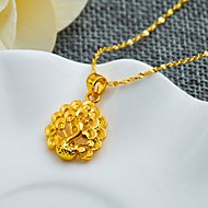24K gold plating Peacock Pendant (not including necklace)