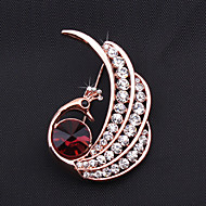 Women's Alloy Peacock Brooches & Pins With Crystal/Rhinestone