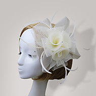 Women Feather/Net Korean Style Flowers With Wedding/Party Headpiece(More Colors)