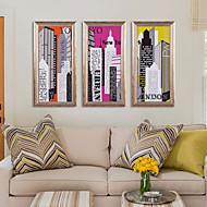 Krajina / Klidný život / Komiks / Architektura / Motivační Kanvas v rámu / Set v rámu Wall Art,Polystyren Zlatá Včetně pasparty s rámem