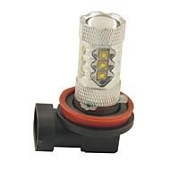 carking ™ h8 / h11 80w 16smd 2800ml 6000k luz branca levou lâmpada nevoeiro condução lâmpada de cabeça de luz (DC 12V)