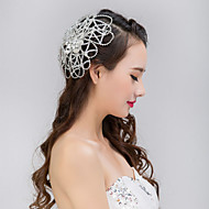Bride's Flower Shape Crystal Rhinestone Forehead Wedding Headdress  1 PC