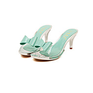 Women's Summer Heels Rubber Casual Kitten Heel Green / Pink / White